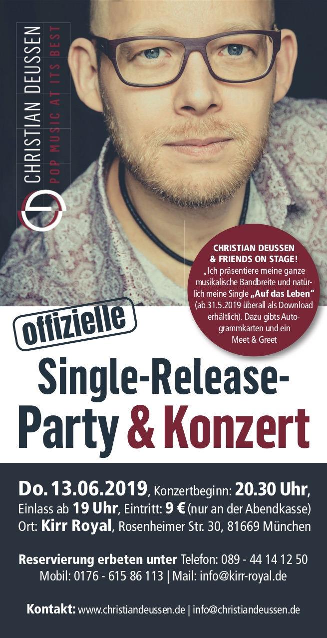 Deussen Flyer Releaseparty Vorne